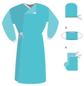 комплект стерильный хирургический КХ-01 Гекса