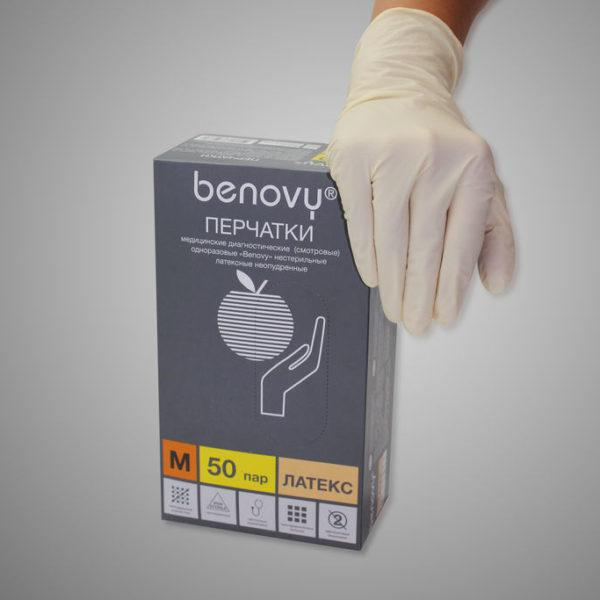 перчатки benovy латекс