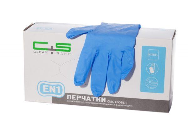 перчатки нитриловые clean+safe touch EN1