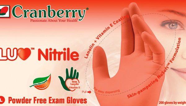 перчатки нитриловые cranberry