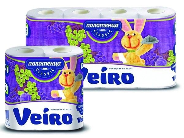 полотенца бумажные veiro classic 2-cл
