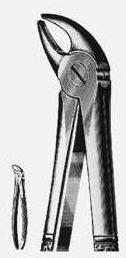 Щипцы №38 для удаления молочных резцов нижней челюсти Щ-179