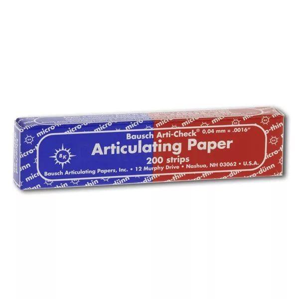Бумага артикуляционная ВК80, синяя/красная, Bausch (200 листов, 40мкн)