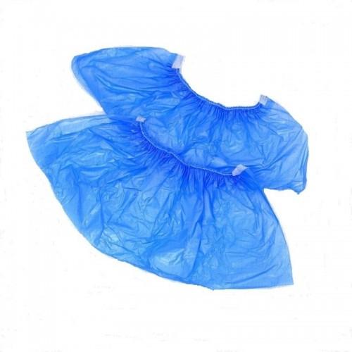 бахилы текстур синие с 2 резинкой