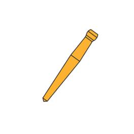 Штифты беззольные Uniclip 0,8мм. №208