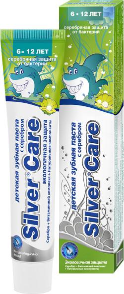 Зубная паста Silver Care для детей — 6/12 лет с фтором