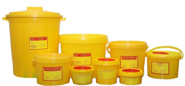 Ёмкость-контейнер для сбора органических отходов и острого инструментария