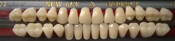 Зубы двухслойные GLORIA New Ace/Naperce